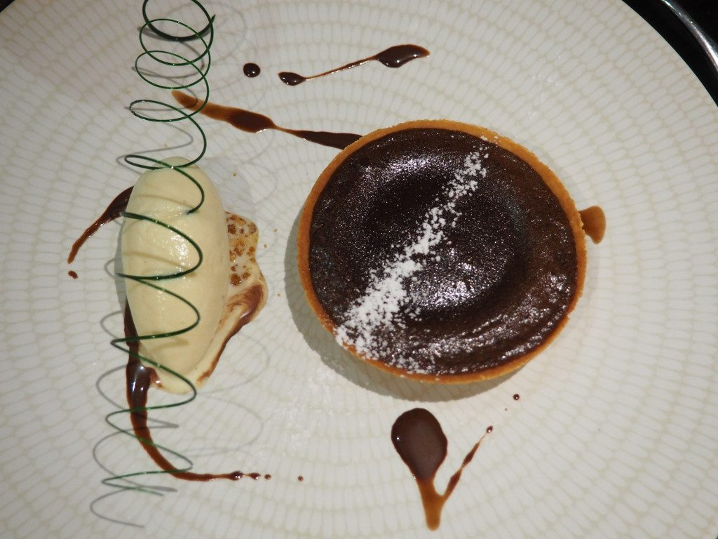 Tarte chocolat glace romarin